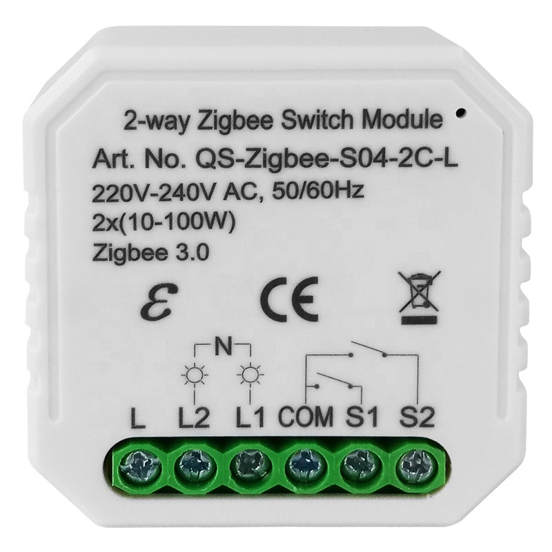 smart switch module tuya Zigbee 3.0 two gangs 2 way